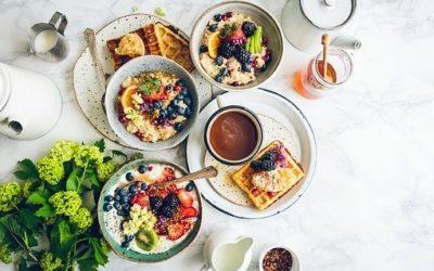 fliegendes Frühstück
