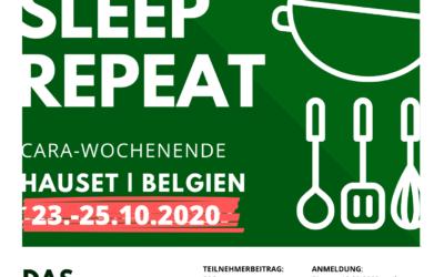 Cara-Wochenende | Eat. Eat. Sleep. Repeat. 23.-25.10.2020