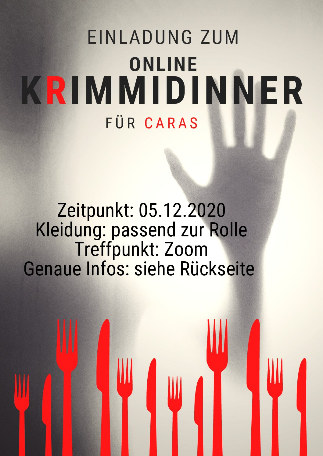 Krimidinner für Caras | 05.12.2020