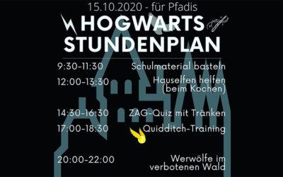 ein Tag in Hogwarts | digitaler Pfadi-Tag